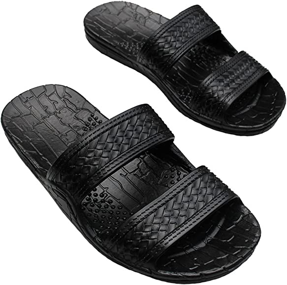 ada606a18 Hawaii Brown and Black Jesus Sandals for Kids. (These Kid Sandals Run 2  Sizes
