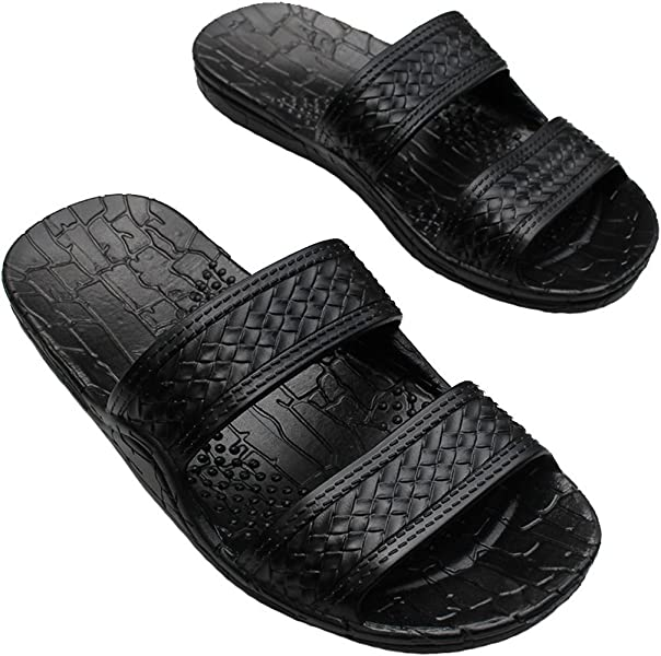 11254c5a6ac858 Hawaii Brown and Black Jesus Sandals for Kids. (These Kid Sandals Run 2  Sizes