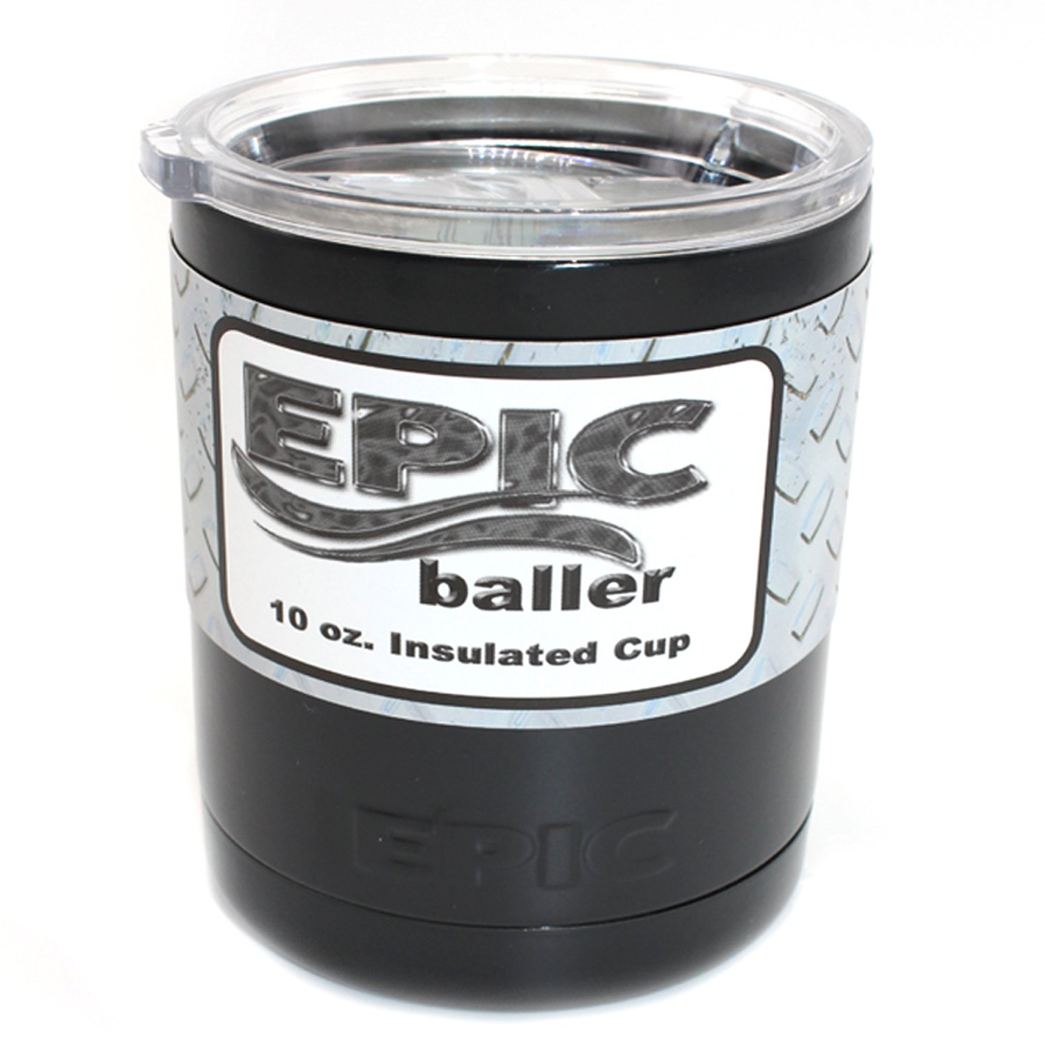 EPIC Stainless Steel Vacuum Insulated Travel Tumbler, 10 oz, Black