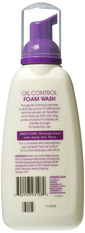 Cetaphil Dermacontrol Foam Wash Lotion, 8 Fluid Ounce, Pack of 3