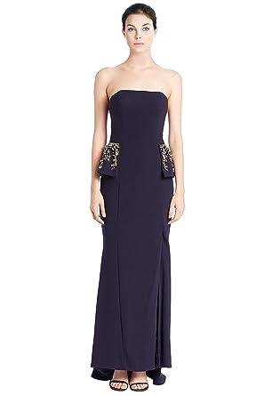 ca13f1fb58c Jovani Strapless Rhinestone Embellished Peplum Evening Gown Dress - Blue -   Amazon.co.uk  Clothing
