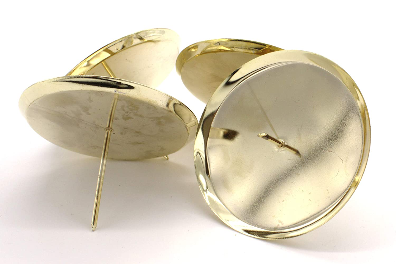 DARO DEKO Metall Kerzenhalter /Ø 6cm Gold