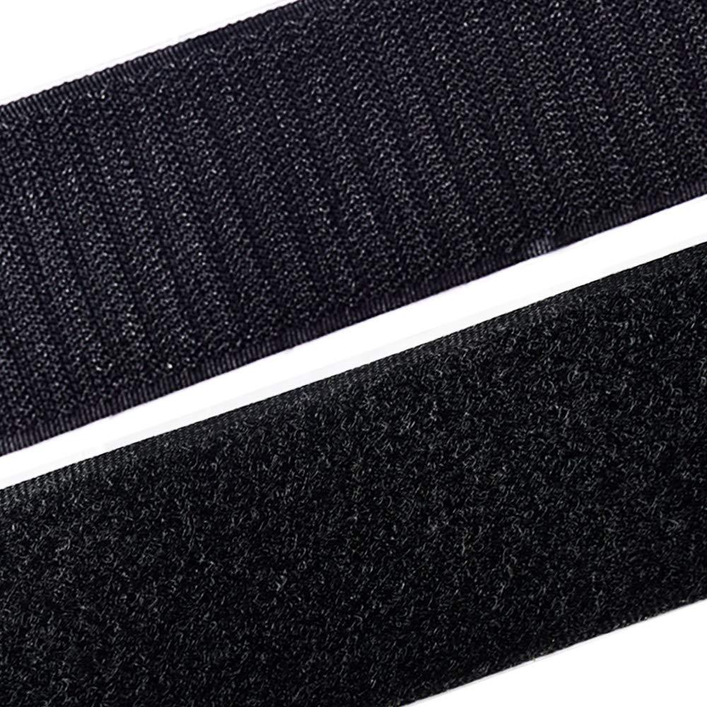 Auto Adhesivo Cinta Rollo Belcro Adhesivo Fuerte Hook y Loop Bandas para DIY Hogar Negro 5m*5cm