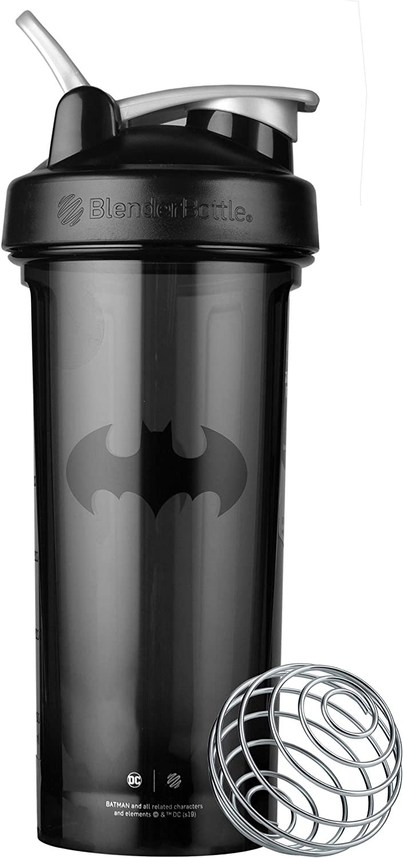 BlenderBottle Justice League Pro Series Shaker Bottle, Batman 28-Ounce