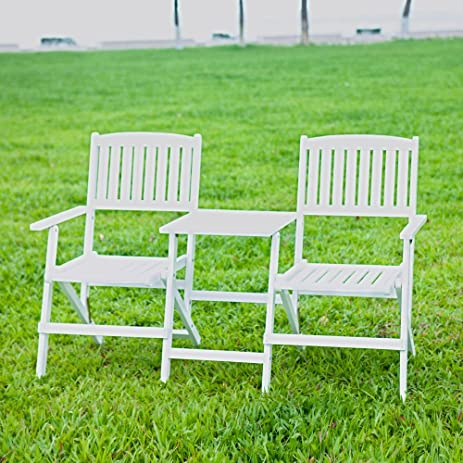 HRH Designs HRH JJ WH Jack U0026 Jill Chairs, White