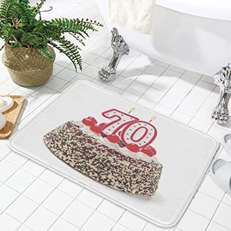 Amazon YOLIYANA Polyester Carpet 70th Birthday Decorations For Meeting Room Dining 1969 X315 Cake With 70 Number Candles
