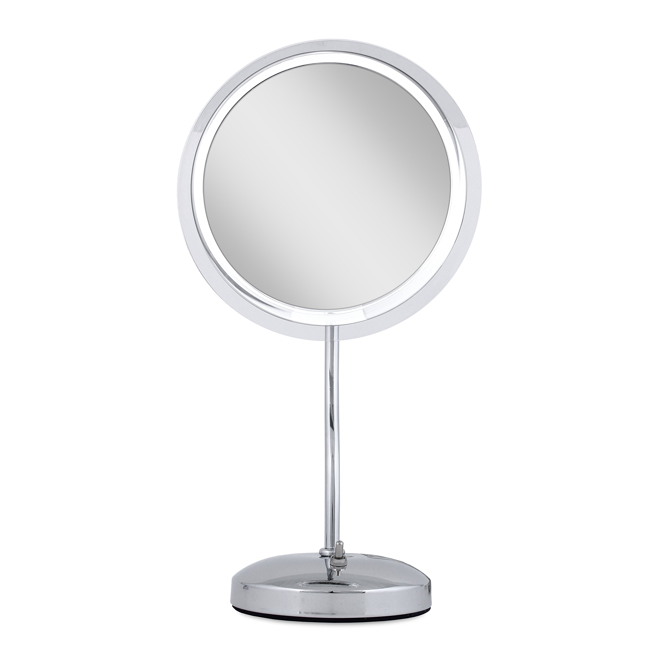 Zadro S Neck Pedestal Mirror In Chrome with 7X Magnification, Chrome Finish, 9 Inch
