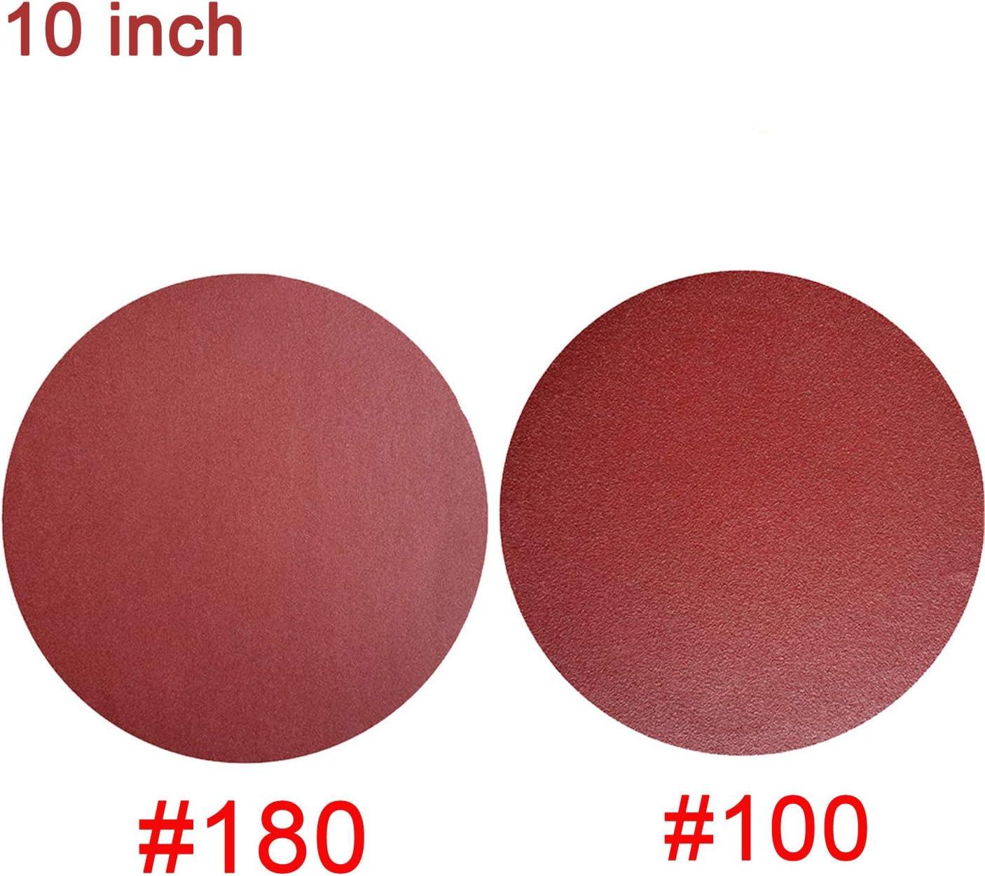 "A//O X backing 10-12/"" PSA Sanding Disc 50 Grit Aluminum Oxide Resin Bond Cloth"