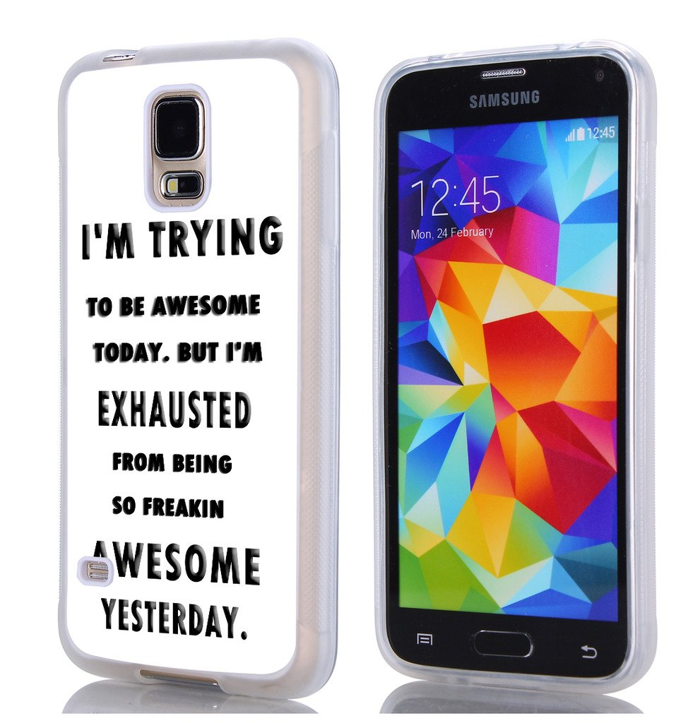 S5 Case Sayings Funny,Hungo TPU Rubber Cover