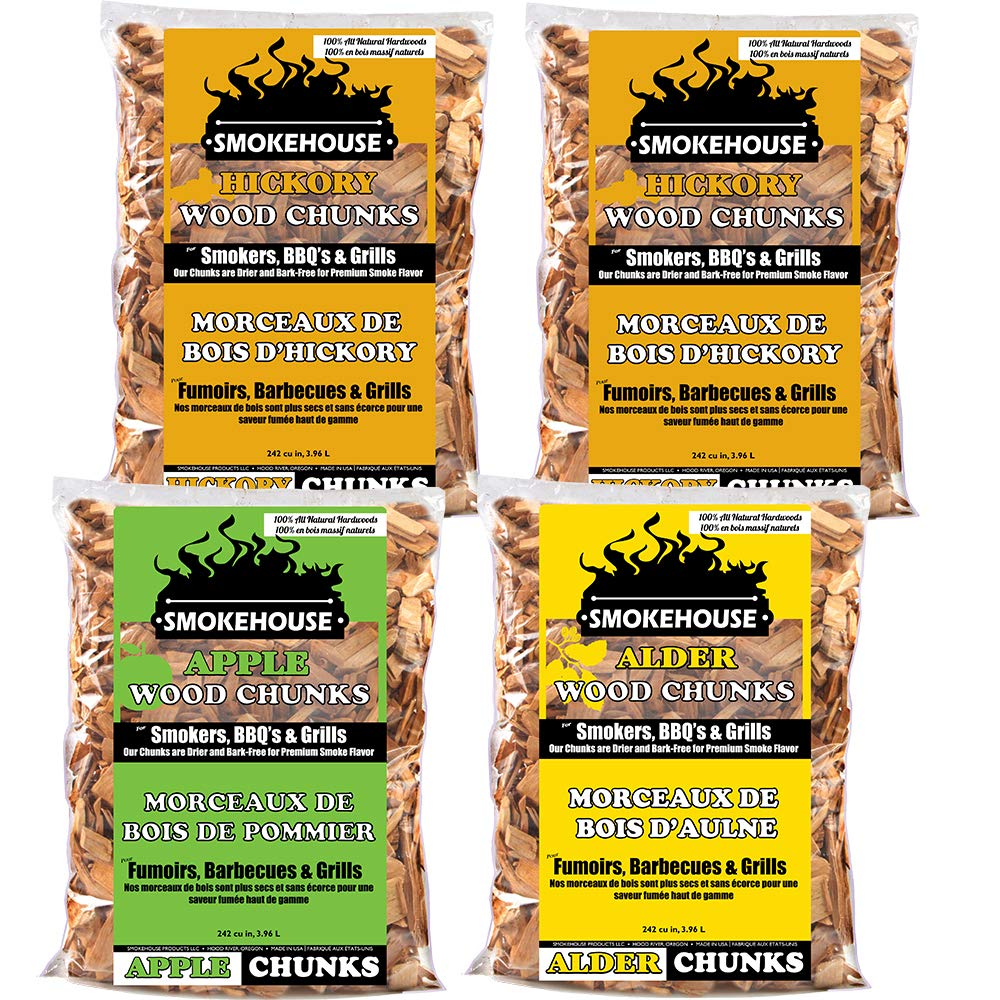 Smokehouse Products Assorted Flavor Chunks, 4-Pack