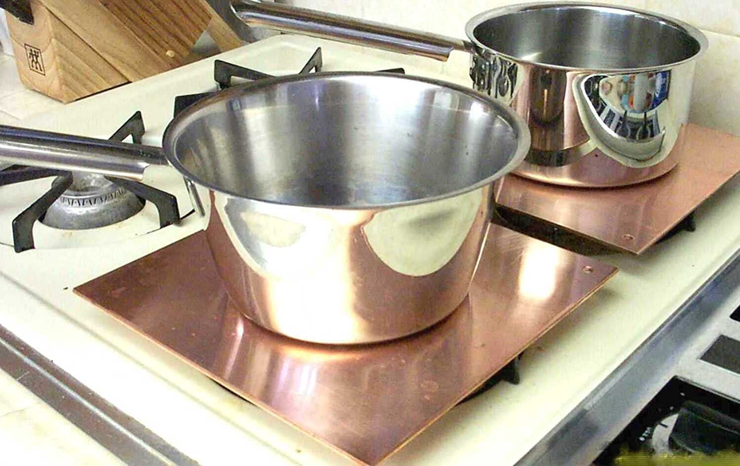 Copper Heat Diffuser, Simmer Plate, Heat Equalizer, Oven Plate, and a truly fine Defroster Plate - all in one (10 Inch)
