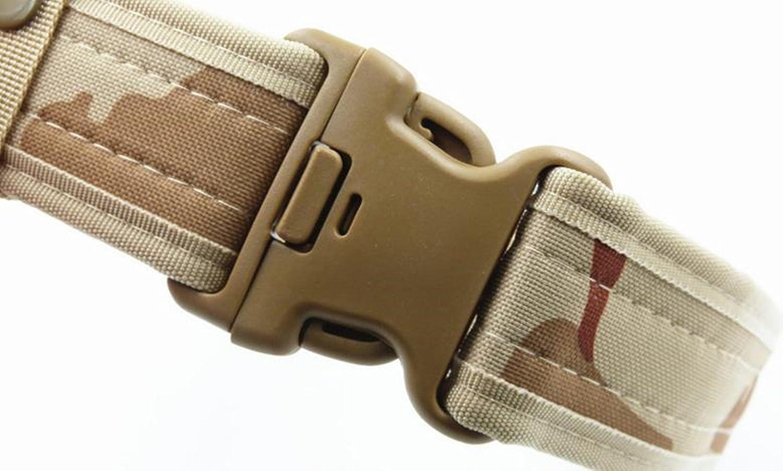 MESHIKAIER Hombre Nylon Cintur/ón Adjustable Militar T/áctico Cintur/ón Policia Cintur/ón Outdoor Deport Cintur/ón Plastico Hebilla