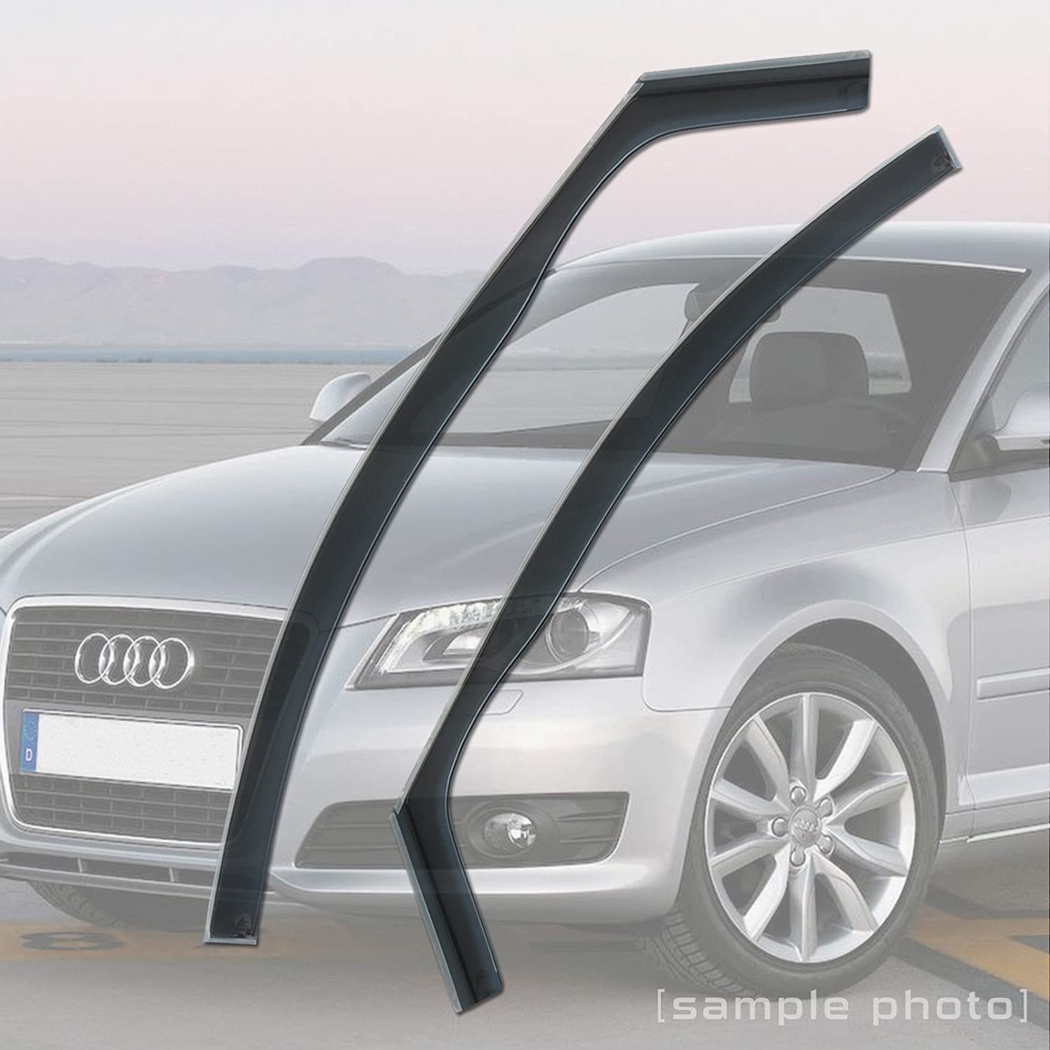 carmats4u Fully Tailored Wind//Rain Deflectors//Includes Clips Adhesive and Instructions FRONTS ONLY
