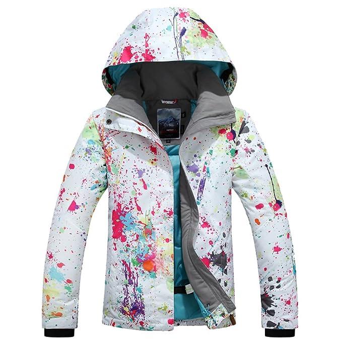 Amazon.com: Chaqueta de esquí para mujer, a la moda ...