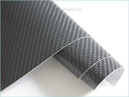 Vinilo de fibra de carbono en 4D, 50 x 152 cm, (Gris oscuro)