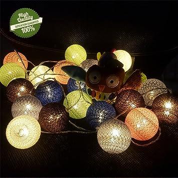 LED Ball Weihnachten Deko Batterie Cotton Kugel Lichterkette Hochzeit Party Deko