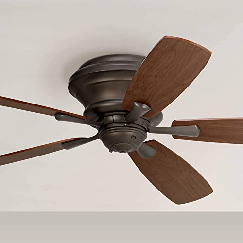 52″ Casa San Marin Hugger Ceiling Fan Flush Mount Oil Rubbed Bronze Walnut