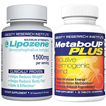 Lipozene Weight Loss Pills 30 Count And Metaboup Plus 30 Count