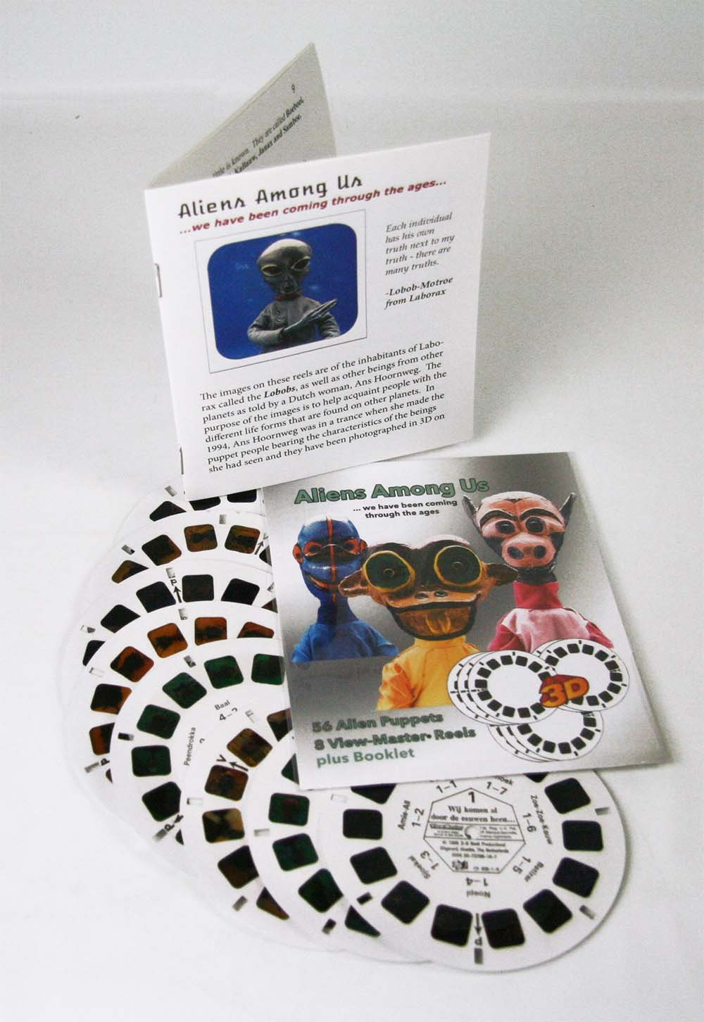 Aliens Among US - Classic View Master - 8 Reel Set for Classic ViewFinder Viewers - 56 3D Images by 3Dstereo ViewMaster (Image #1)