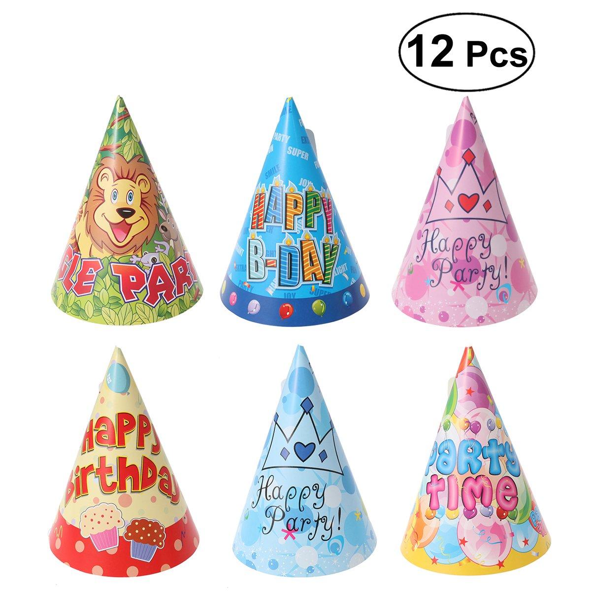 UKCOCO 12Pcs Katze Hund Haustier Happy Birthday Party Hut 6 Stile ...