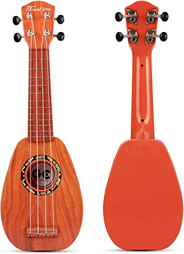 "aPerfectLife 17"" Kids Ukulele Guitar Toy 4 Strings Mini Guitar Children Musical Instruments Educational Learning Toys with Picks and Strap for Toddler..."
