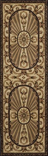 Momeni Rugs Harmony Collection, Traditional Area Rug, 2 6 x 8 Runner, Black