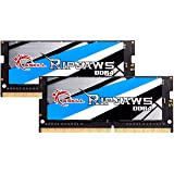G.Skill RipJaws Series 64GB (2 x 32GB) 260-Pin SO-DIMM PC4-21300 DDR4 2666 CL18-18-18-43 1.20V Dual Channel Memory Model…