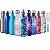 HGDGears Bottiglia Acqua in Acciaio Inox - Senza BPA, Borraccia Termica Isolamento Sottovuoto a Doppia Parete, Borracce per Bambini, Scuola, Sport, All'aperto, Palestra, Yoga