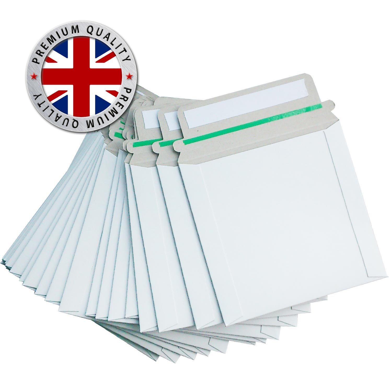 235x180 mm weiß Versandtasche für CD//DVD mit selbstklebenden Abreißstreifen