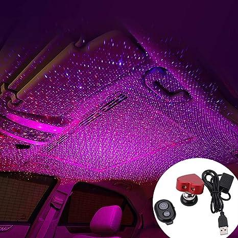 L/ámpara LED de atm/ósfera de coche LED Luz nocturna USB Luz ambiental del autom/óvil Coche Estrellado USB Techo modificado Decoraci/ón interior Proyector de techo Star Sky