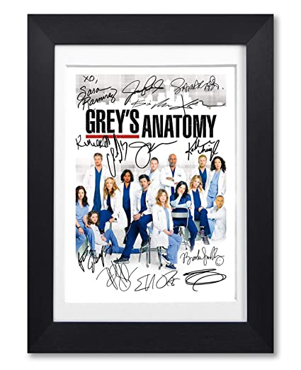 cac345eadfe Grey's Anatomy Cast Signed Autograph Signature Autographed A4 Poster Photo  Print Photograph Artwork Wall Art Picture