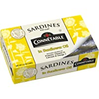 Connetable Sardines in Sunflower oil, 4.2 Ounce (Pack of 12)