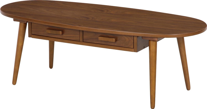 不二貿易 引出付き センター テーブル クルボ 幅110 引出2杯