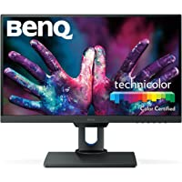 "BenQ PD2500Q 25"" 2K Designer Monitor, 2560x1440 2K QHD, Ips, 100% Rec.709 and sRGB, Factory Calibrated, Eye-Care, Ultra Slim Bezel Design, Height Adjustable, Flicker-Free, HDMI, DP"