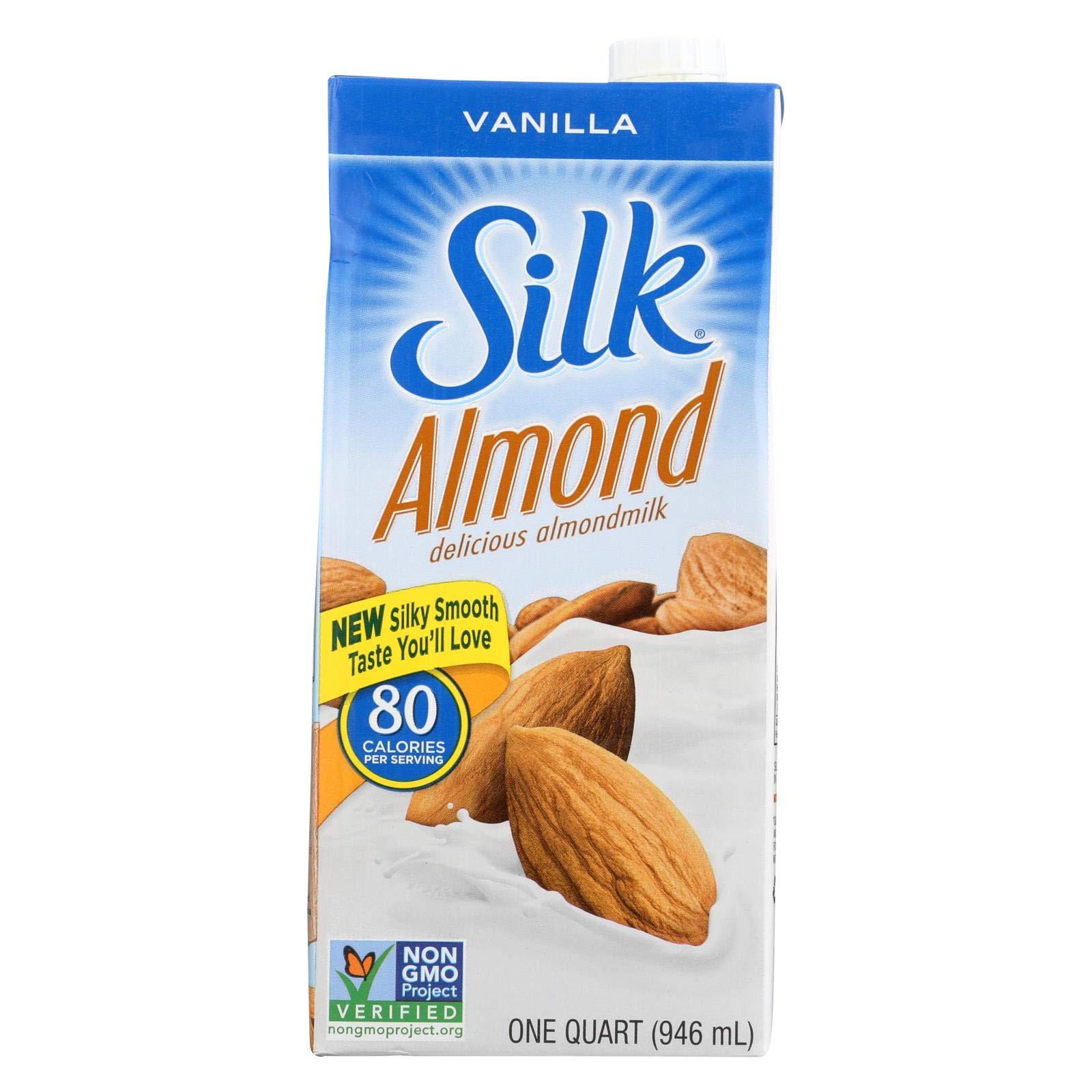 Silk Pure Almond Milk - Vanilla - Case of 6 - 32 Fl oz.