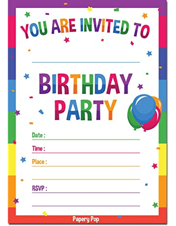 30 Birthday Invitations With Envelopes Pack