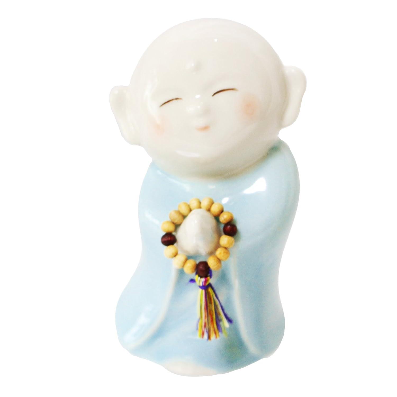 手元供養 仏具 ミニ骨壺 祈り地蔵 美濃焼 ブルー