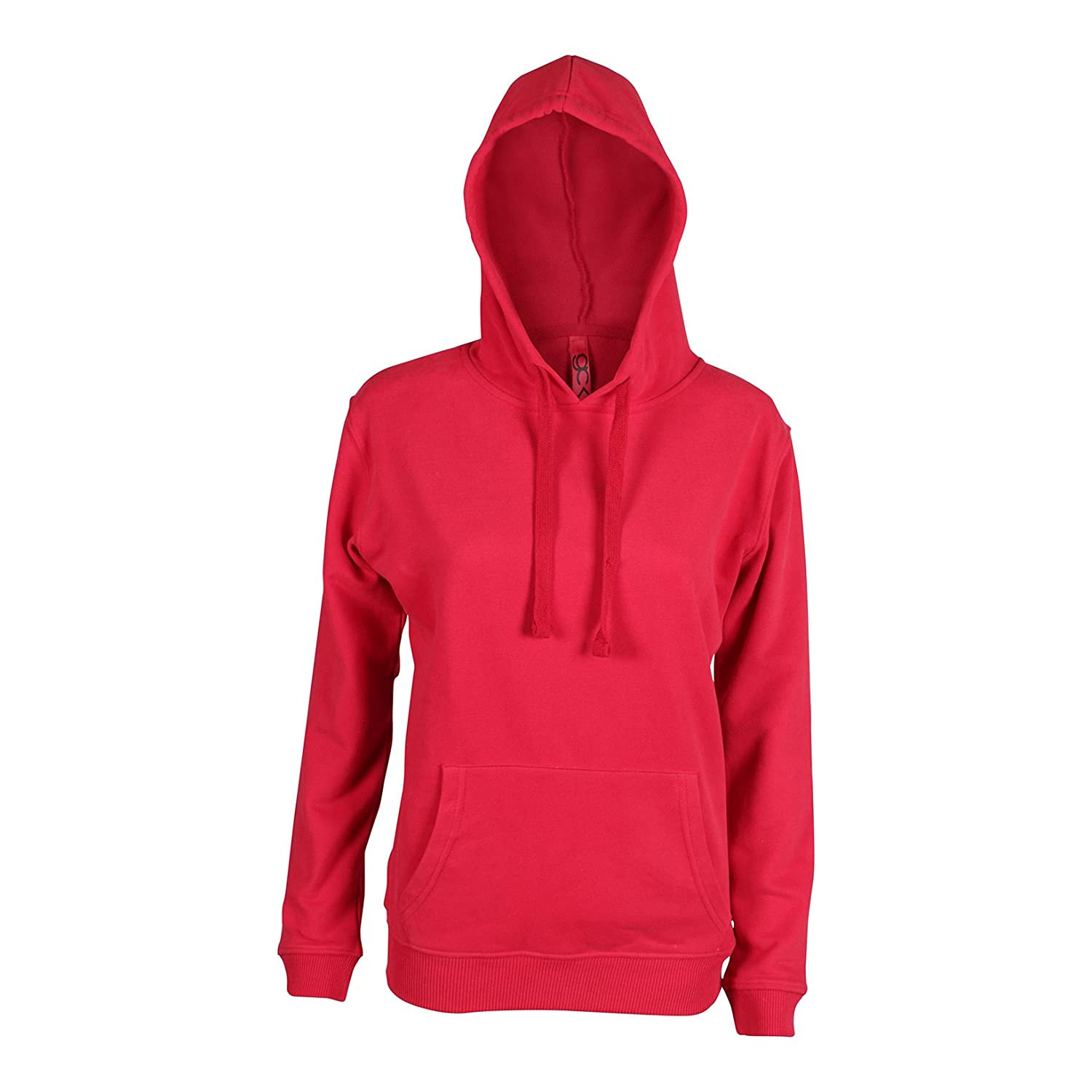 Friday Chic GCKNITWEAR'S Women's Basic Pullover Hoodie With Front Pocket