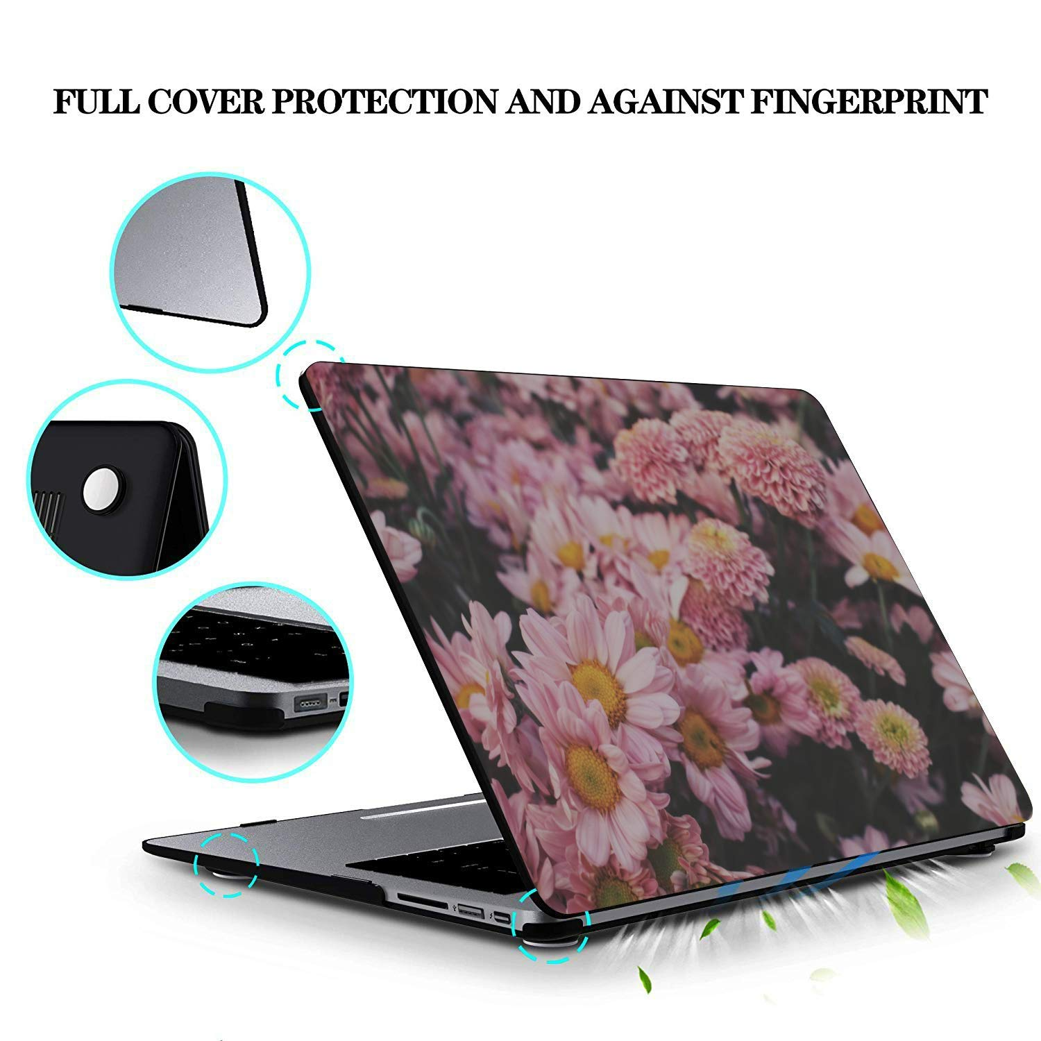Mac 15 Inch Case Summer Small Fruit Vegetable Tomato Plastic Hard Shell Compatible Mac Air 11 Pro 13 15 MacBook Pro Accessories Protection for MacBook 2016-2019 Version