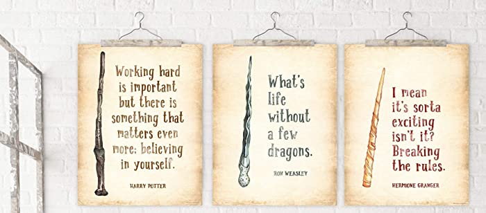 BELIEVING IN YOURSELF IS IMPORTANT HARRY POTTER Famous Quote Wall Art Print