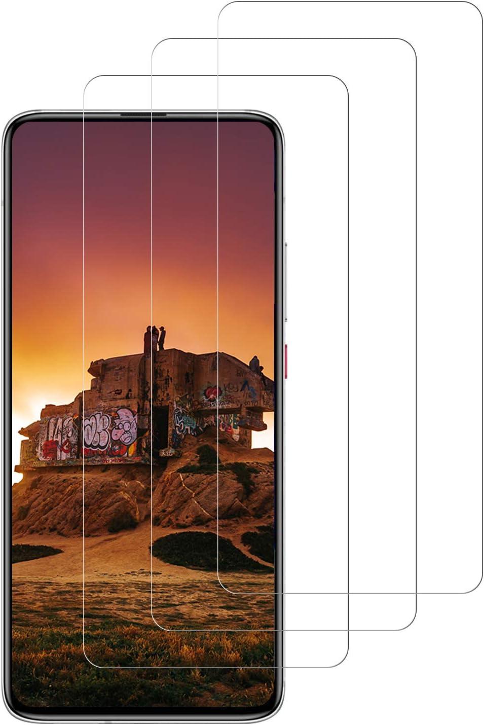 DASFOND 3 Piezas Protector Pantalla de Xiaomi Pocophone F2 Pro Cristal Templado [9H Dureza,Sin Burbujas,Alta sensibilidad y Definicion] Vidrio Templado/Protector de Pantalla Xiaomi Pocophone F2 Pro