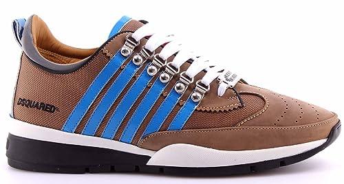 Zapatos Hombres Sneakers DSQUARED2 251 Tech Fabric Mud Avio Barro Gris Italy New: Amazon.es: Zapatos y complementos