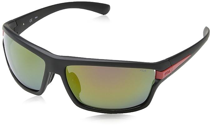 Fila SF8976 gafas de sol, Rojo (MAT BLACK/RED), Talla única ...