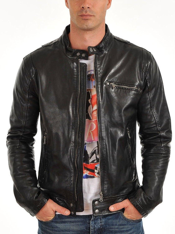 on sale Laverapelle Men's Lambskin Real Leather Jacket Black ...