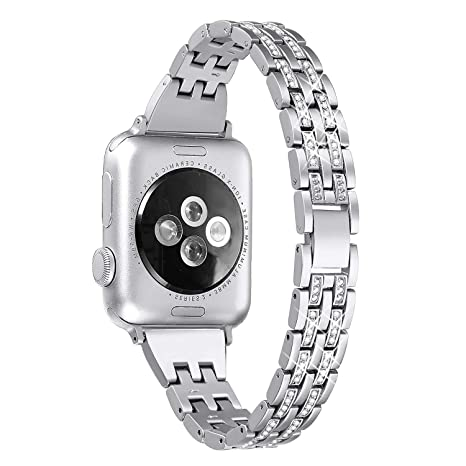 Myada Correa Apple Watch 42mm Acero Inoxidable, Correa Apple Watch Series 4 44mm, Pulsera Apple Watch 4 Metal de con Cierre Magnético, Pulsera ...