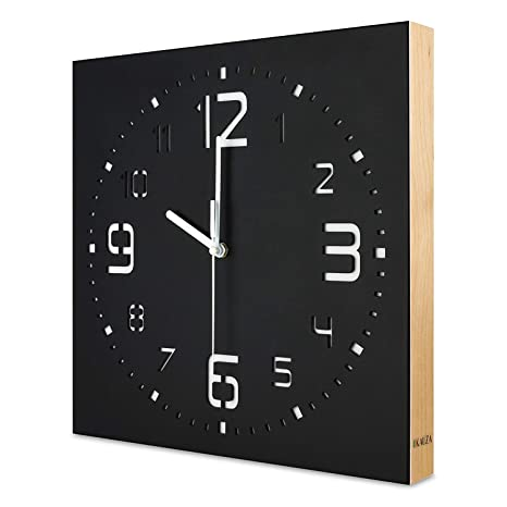 Amazon.com: Kauza - Reloj de pared con movimiento de cuarzo ...