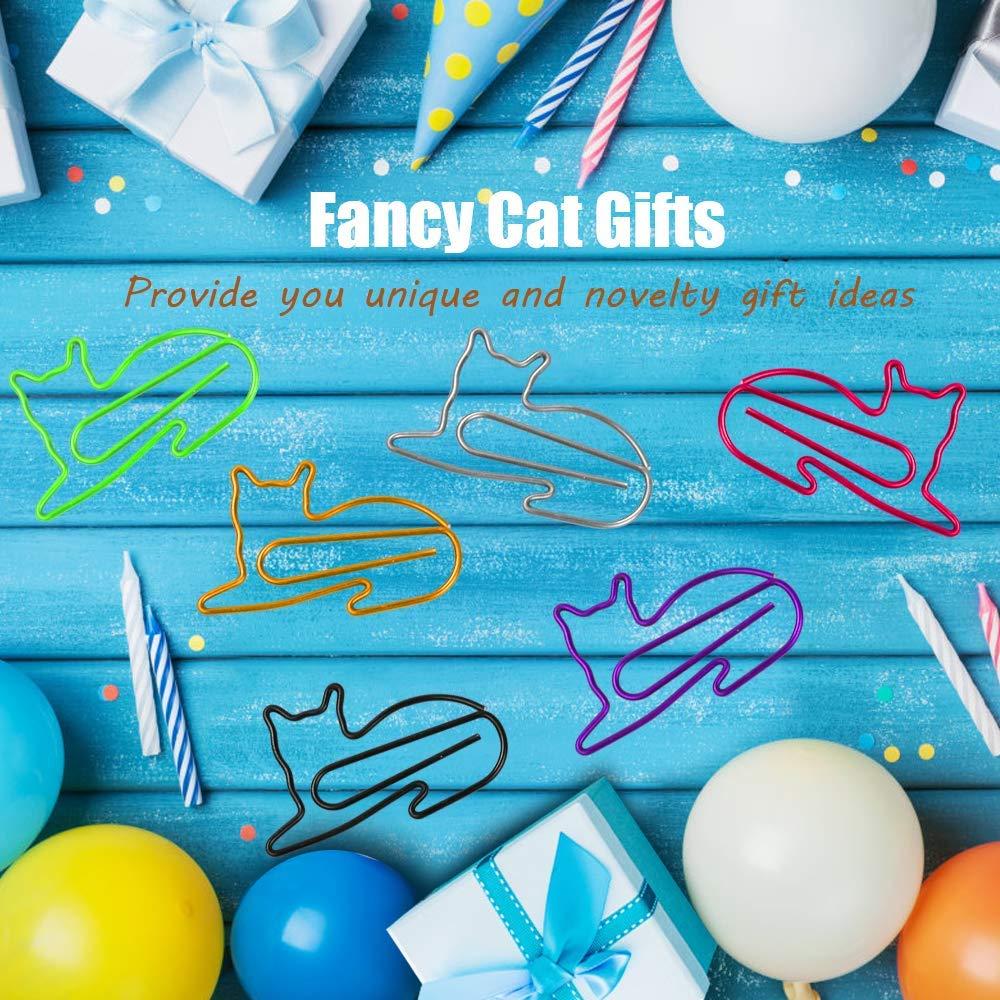 ACAMPTAR 60Pcs Clips de Papel Clips de Papel Accesorios de Escritorio para Mujeres Oficina Art/íCulos de Oficina Lindos Regalos para Amantes de Gatos Regalos para Amantes de Gatos