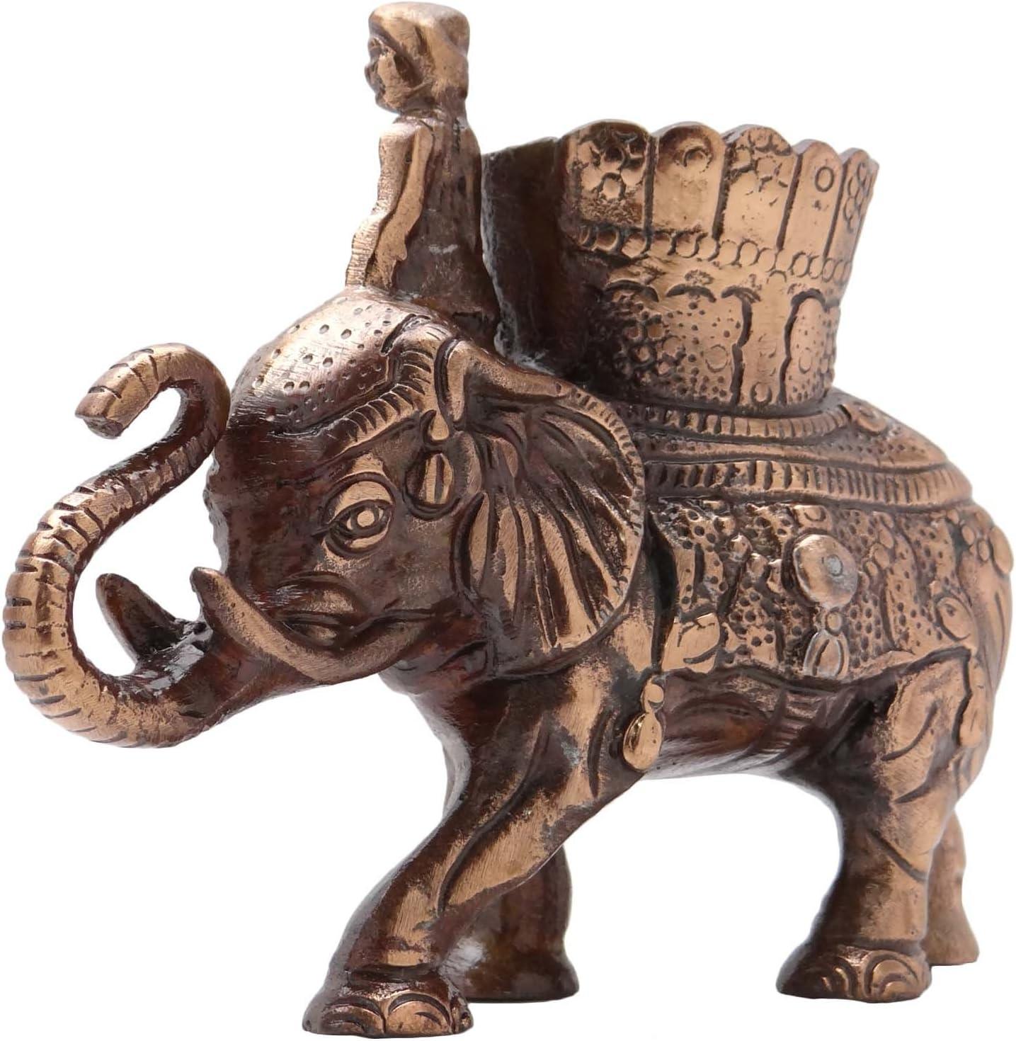 Ethnic Elephant Figurine Statueメタルアートホームテーブル装飾彫刻
