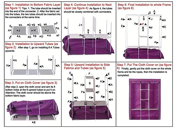 Wardrobe - Non-woven Fabric Collapsible Clothes Storage