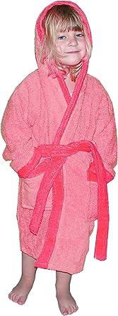 Albornoz para niño de 6 a 7 años (T6) color rosa: Amazon.es: Bebé